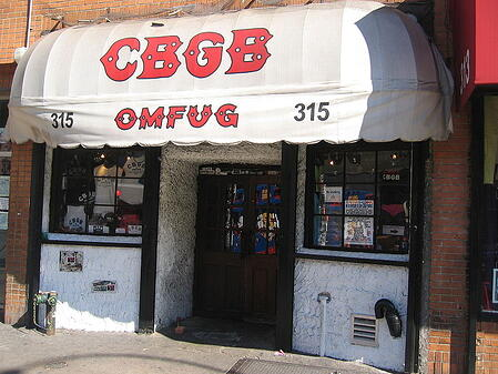 CBGB, a legendary club in New York, stands for Country, BlueGrass, and Blues.