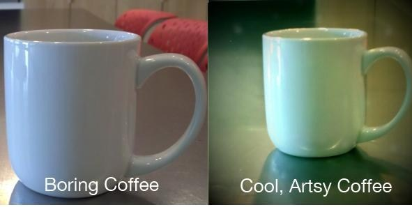 From boring coffee to cool coffee