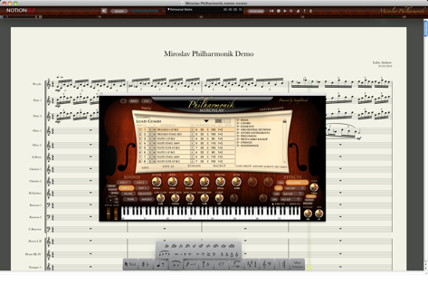 NOTION SLE for Miroslav Philharmonik