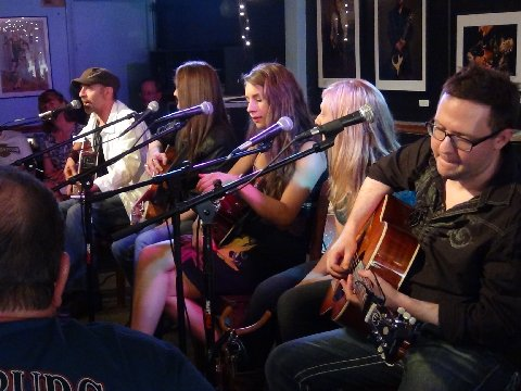 "Songwriters Performing at USA Songwriting Competition&squot;s showcase at the famed ""Bluebird Cafe"", in Nashville, TN"