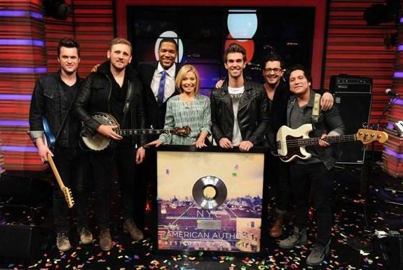 American Authors accepting their Platinum award